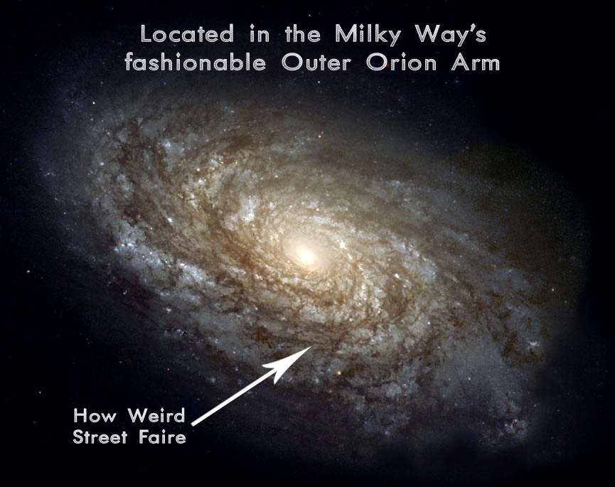 How Weird Street Faire Galactic Map