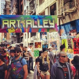 How Weird 2013 Art Alley