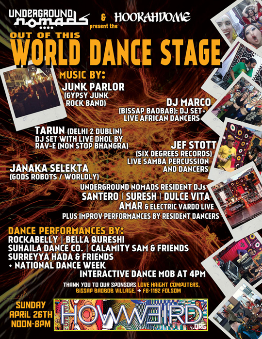 Out of this World Dance Stage at How Weird 2015