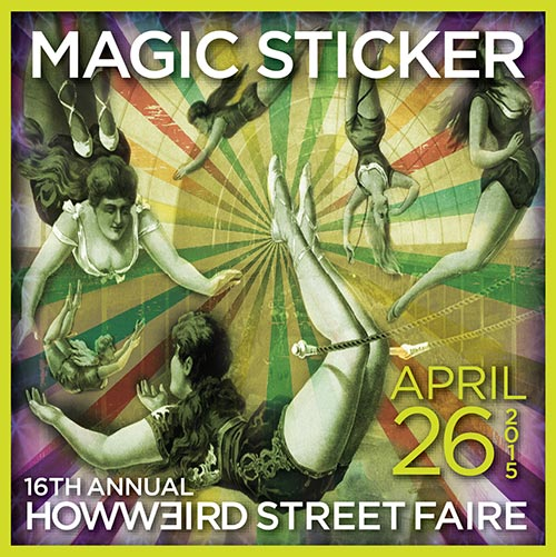 How Weird Street Faire Magic Sticker 2015