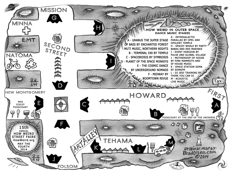 How Weird 2014 Faire Map