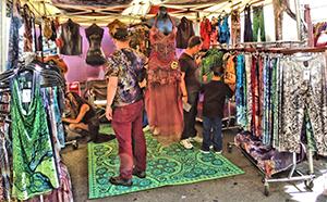 How Weird 2017 - vendor on Howard Street