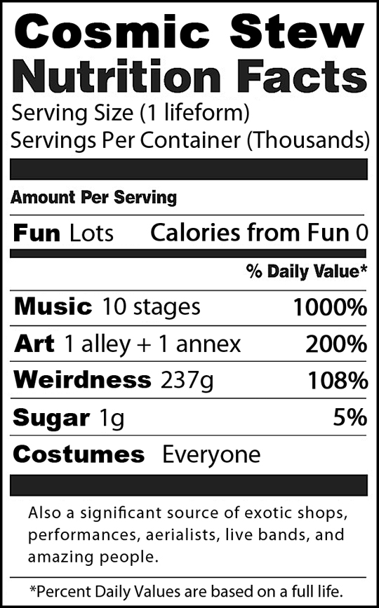 Cosmic Stew Nutrition Facts