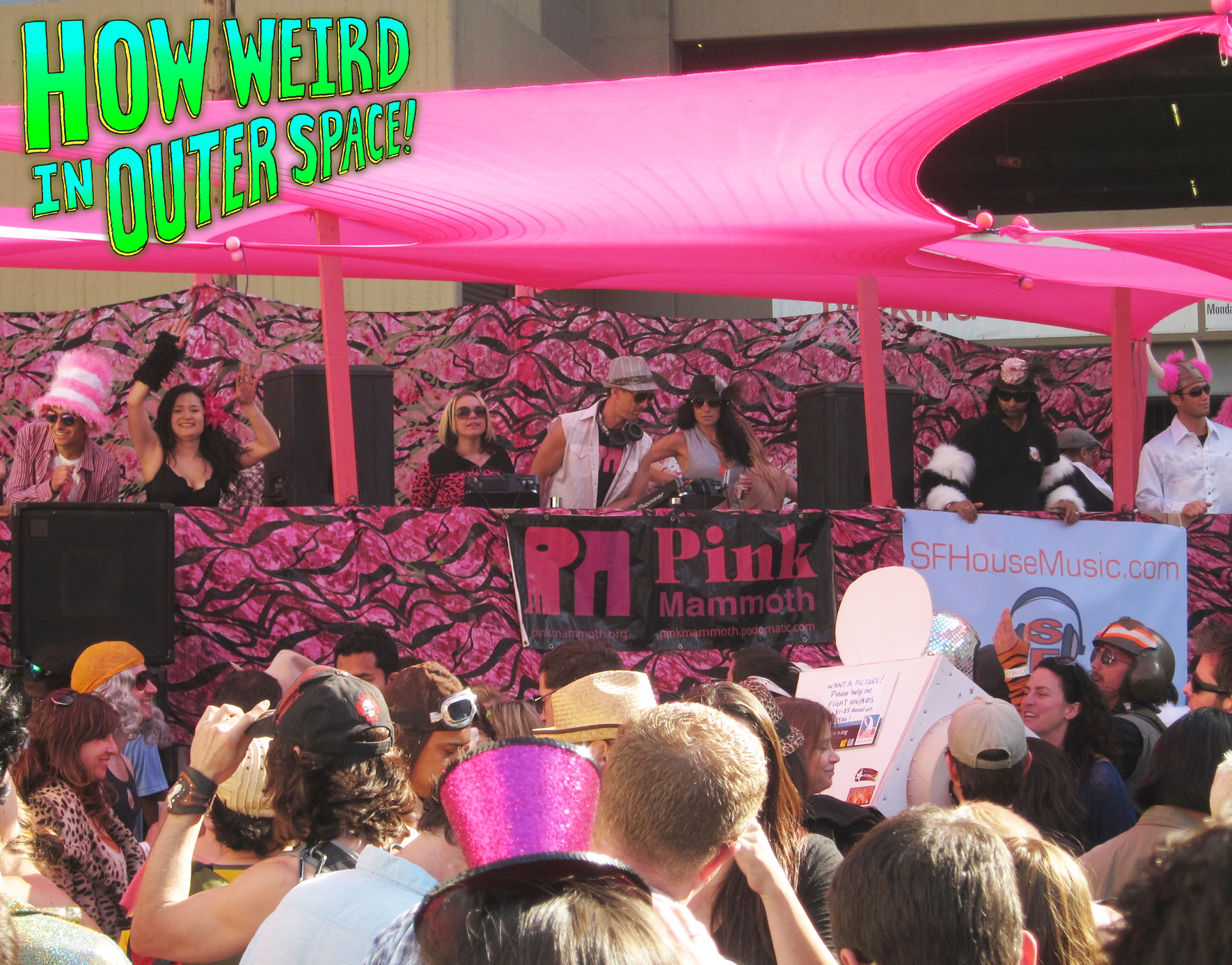 Pink Mammoth and SF House Music stage at How Weird 2012