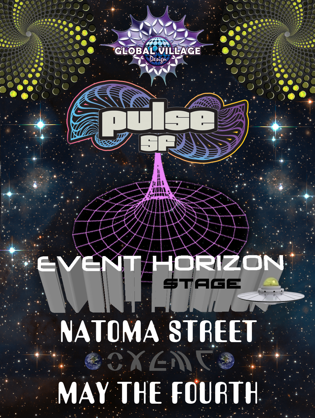 Pulse stage poster - Event Horizon