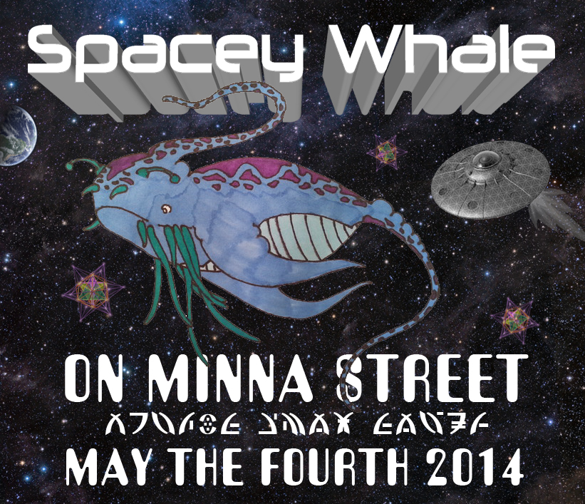 Spacey Whale stage poster