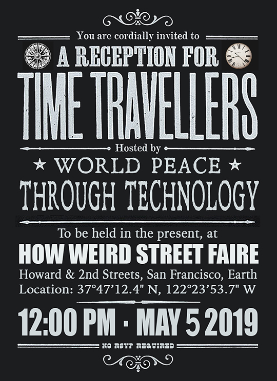 How Weird 2019 invitation