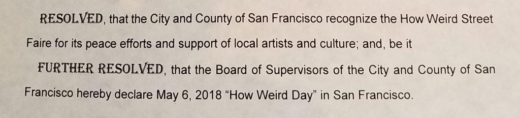 SF Proclamation
