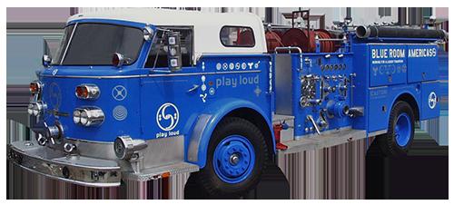 Blue Room firetruck from 1998
