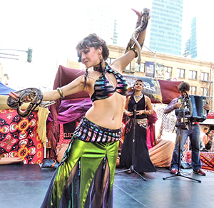 Dancer with snake at How Weird 2016