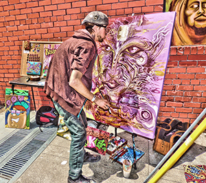 How Weird 2017 - live painting on Art Alley