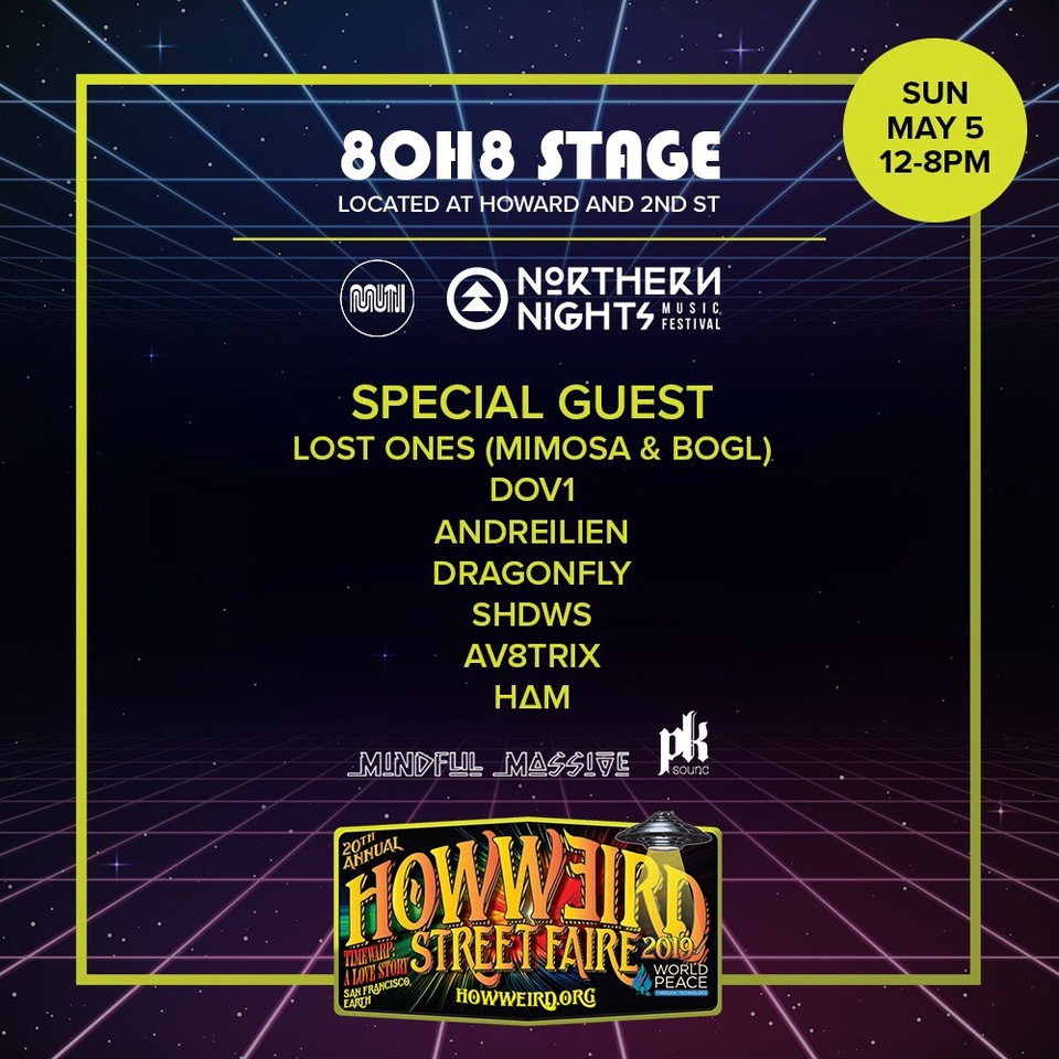 Muti Music and Northern Nights stage at How Weird 2019