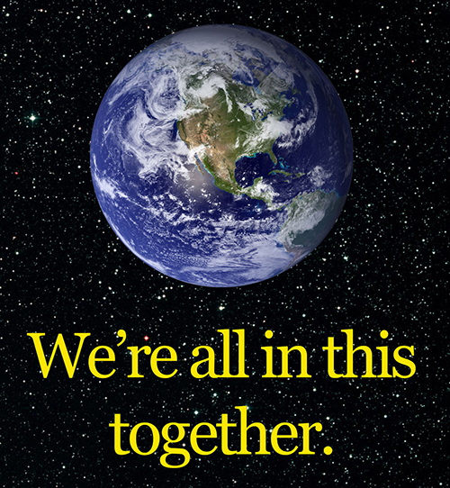 All in this together.