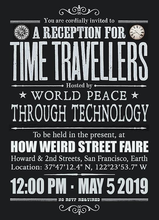 How Weird 2019 invitation